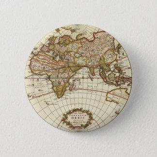 Badge Rond 5 Cm Carte antique du monde, C. 1680. Par Frederick de