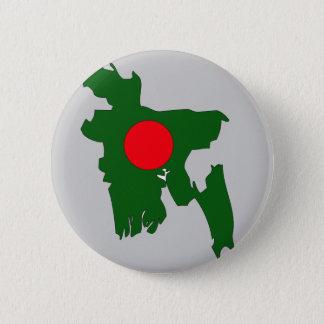 Badge Rond 5 Cm Carte de drapeau du Bangladesh