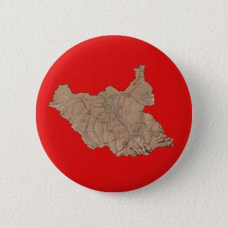 Badge Rond 5 Cm Carte du sud du Soudan