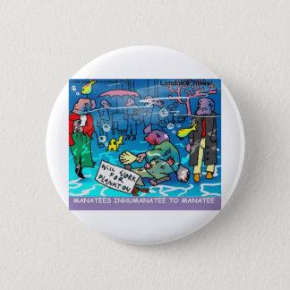Badge Rond 5 Cm Cartes drôles etc. de tasses de tee - shirt d'Inhu