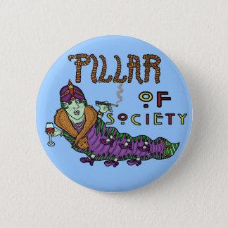 Badge Rond 5 Cm Caterpillar d'animal de société font des