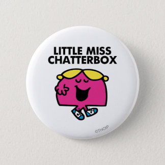 Badge Rond 5 Cm Causerie avec petite Mlle Chatterbox