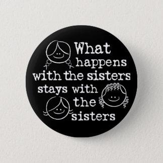 Badge Rond 5 Cm Ce qui se produit avec les soeurs