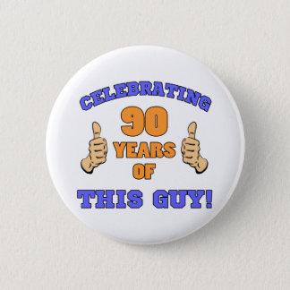 Badge Rond 5 Cm Célébration du quatre-vingt-dixième anniversaire