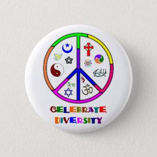 Badge Rond 5 Cm Célébrez la diversité