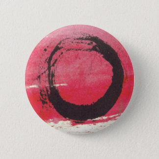 Badge Rond 5 Cm Cercle magenta de zen