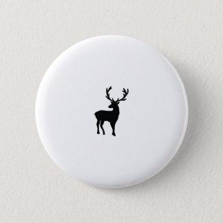 Badge Rond 5 Cm Cerfs communs noirs et blancs