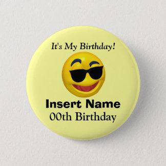 Badge Rond 5 Cm C'est mon bouton d'anniversaire