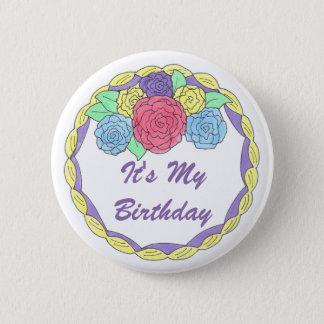 Badge Rond 5 Cm C'est mon gâteau givré par anniversaire avec le