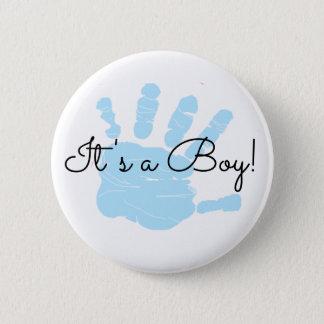 Badge Rond 5 Cm C'est un garçon, nouveau bouton de faire-part de