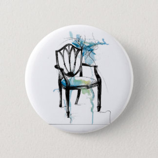 Badge Rond 5 Cm Chaise de Hepplewhite - aquarelle