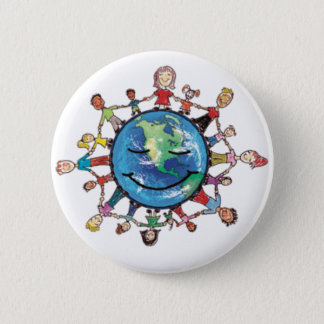 Badge Rond 5 Cm Champ de force pour le bon Pin