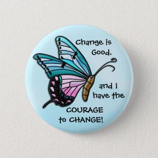 Badge Rond 5 Cm Changez est bon (le bouton de papillon d'Aqua)