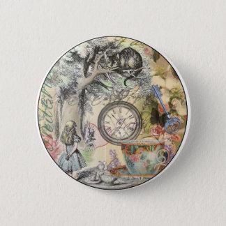 Badge Rond 5 Cm Chat Alice de Cheshire au pays des merveilles