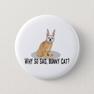 Badge Rond 5 Cm Chat de lapin triste