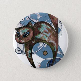 Badge Rond 5 Cm Chat de myrtille