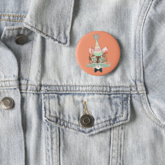 Badge Rond 5 Cm Chat obsession
