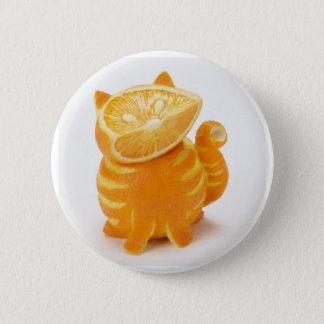Badge Rond 5 Cm chat orange