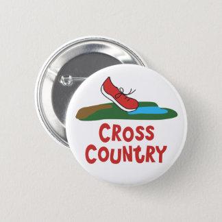 Badge Rond 5 Cm Chaussure de course de pays croisé - cadeau de