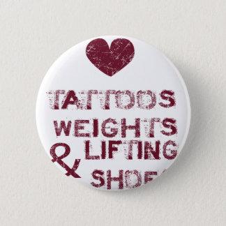 Badge Rond 5 Cm chaussures de poids de tatouages femelles