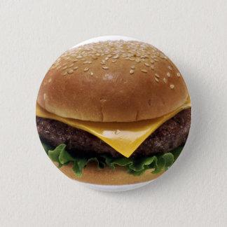 Badge Rond 5 Cm Cheeseburger de nourriture de déjeuner de sandwich