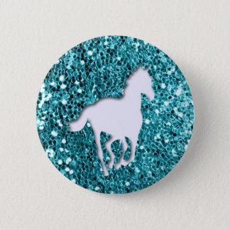 Badge Rond 5 Cm Cheval blanc sur le regard de parties