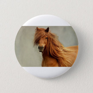 Badge Rond 5 Cm Cheval impertinent