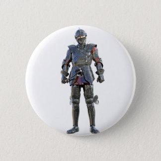 Badge Rond 5 Cm Chevalier se tenant et regardant en avant