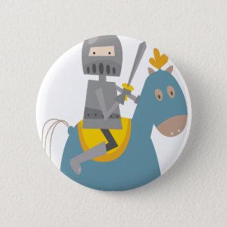 Badge Rond 5 Cm Chevalier sur le cheval