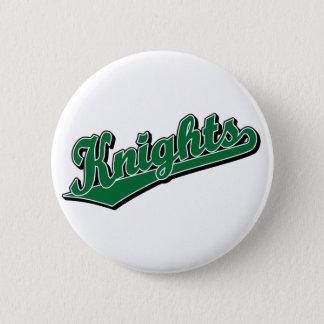 Badge Rond 5 Cm Chevaliers en vert