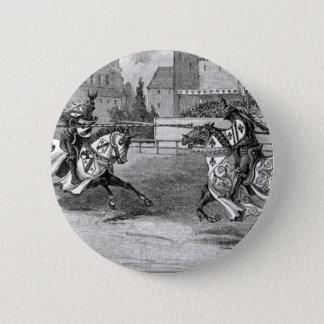 Badge Rond 5 Cm Chevaliers médiévaux joutant