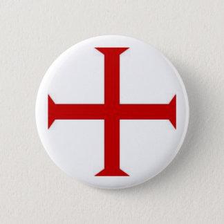 Badge Rond 5 Cm Chevaliers Templar 2
