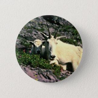 Badge Rond 5 Cm Chèvre de montagne