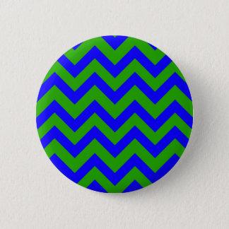 Badge Rond 5 Cm Chevrons bleu-foncé et vert-foncé