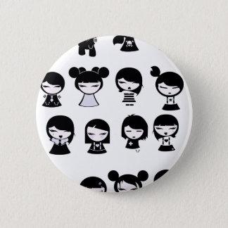 Badge Rond 5 Cm Chibi Emo Goth