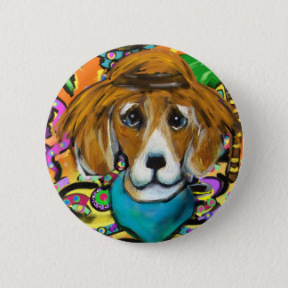 Badge Rond 5 Cm Chien de beagle