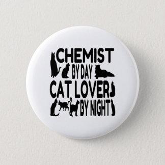 Badge Rond 5 Cm Chimiste d'amoureux des chats