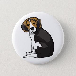 Badge Rond 5 Cm Chiot de beagle