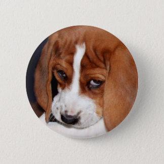 Badge Rond 5 Cm Chiot froissé