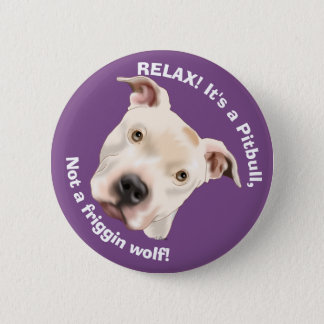 Badge Rond 5 Cm Chiot mignon du Staffordshire Terrier Pitbull