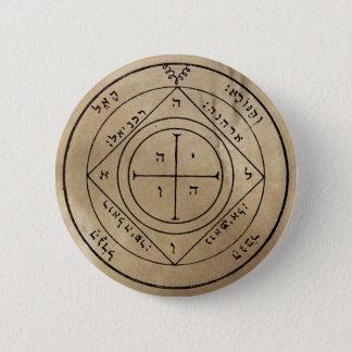 Badge Rond 5 Cm Cinquième pentagramme de bouton de Saturn