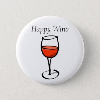 Badge Rond 5 Cm Citation drôle heureuse de consommation de vin de