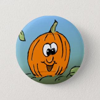 Badge Rond 5 Cm Citrouille amical de sourire mignon de Halloween
