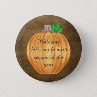 Badge Rond 5 Cm Citrouille d'automne mignon d'automne bienvenu