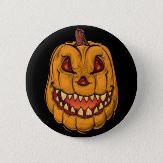Badge Rond 5 Cm Citrouille de Halloween