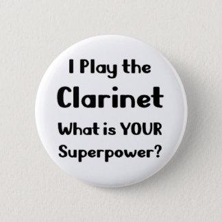 Badge Rond 5 Cm Clarinette