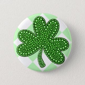 Badge Rond 5 Cm Classique de shamrock de Jour de la Saint Patrick