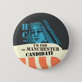 Badge Rond 5 Cm Clinton le bouton de candidat de Manchester