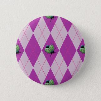 Badge Rond 5 Cm Coccinelle pourpre d'Arglye