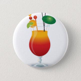 Badge Rond 5 Cm Cocktail des Caraïbes